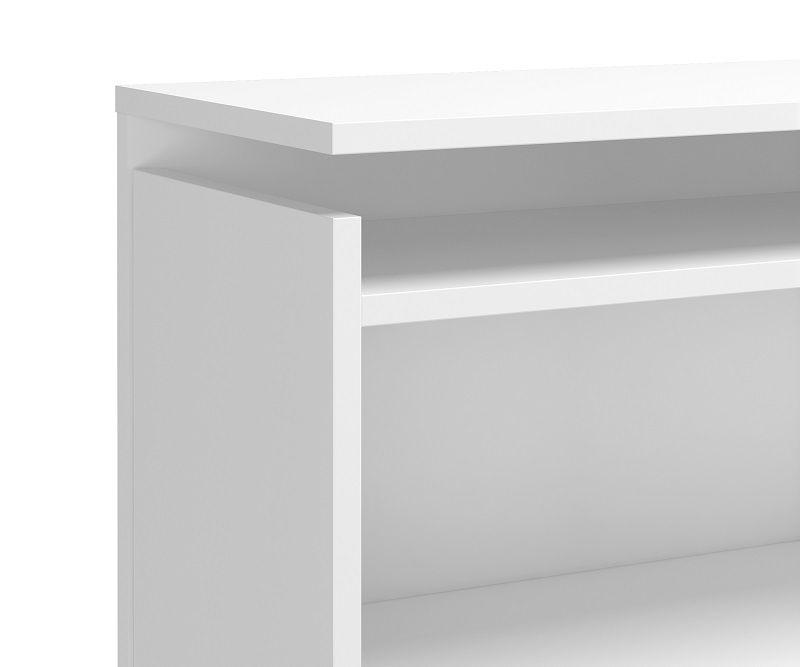 Naia Sengegavl 140 cm - Hvid højglans