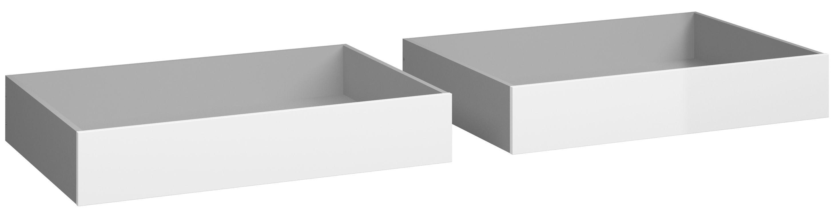 Naia Sengeskuffe - Hvid højglans B:94 - Sengeskuffe i hvid