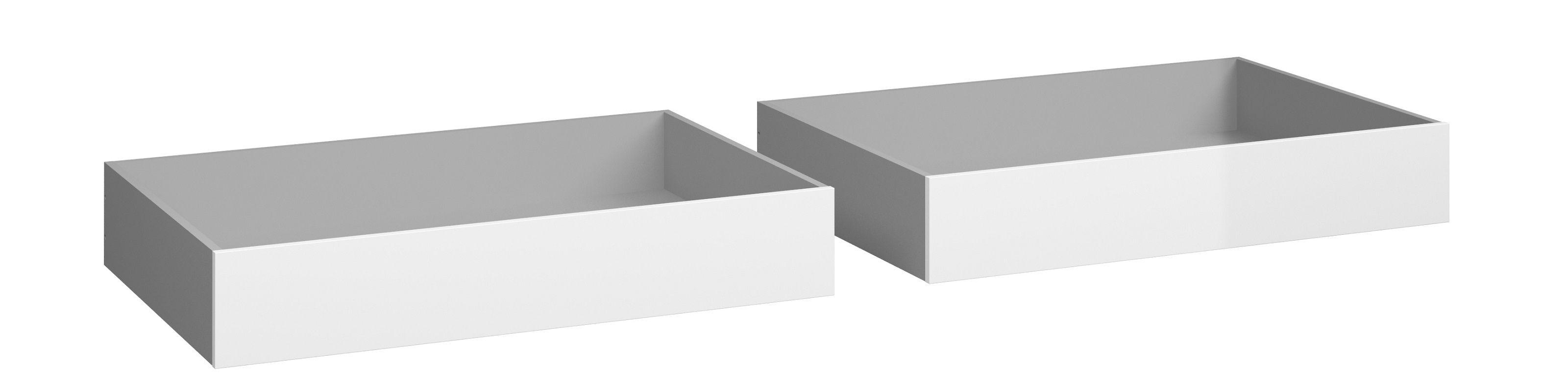 Naia Sengeskuffe - Hvid højglans B:99 - Sengeskuffer i hvid højglans
