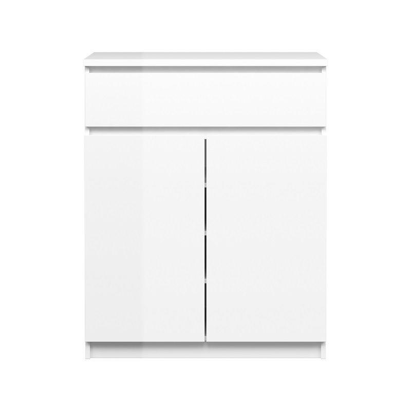 Naia Skænk - Hvid højglans m/2 låger + 1 skuffe - Skænk i hvid højglans
