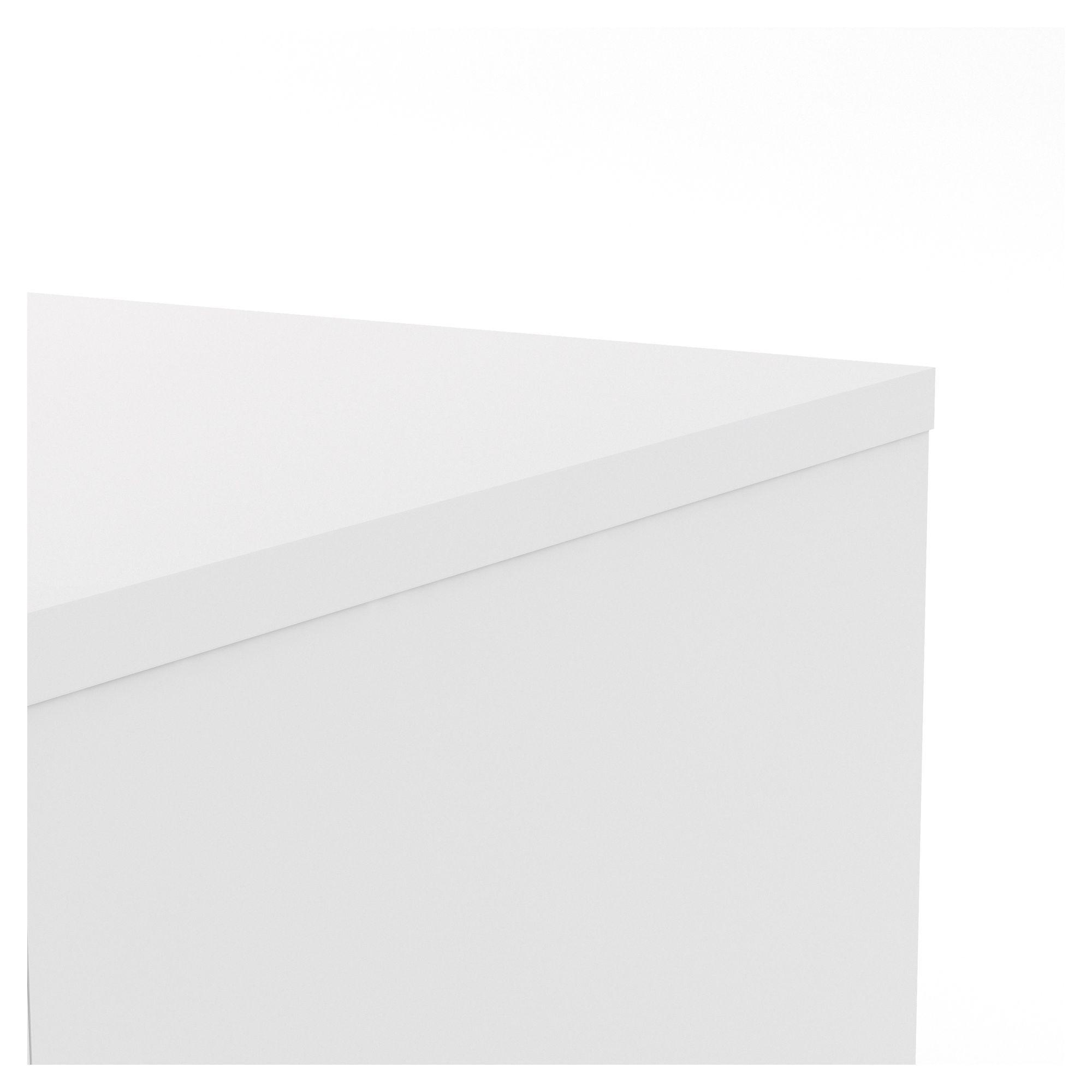 Naia Skænk - Hvid højglans m/2 låger + 4 skuffe - Skænk i hvid højglans