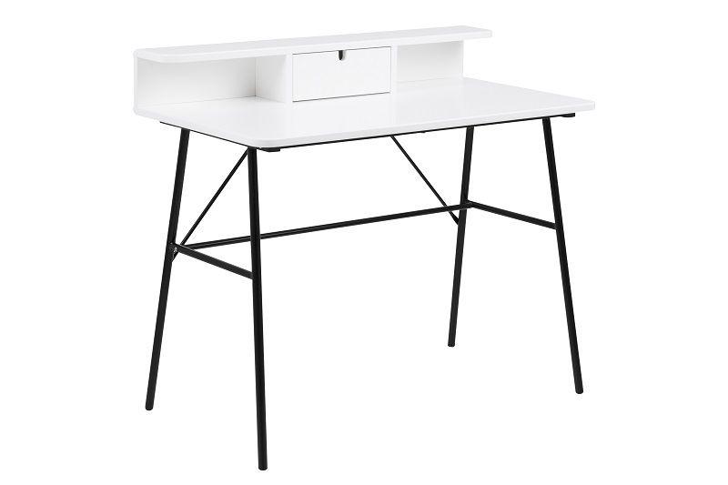 Newton Skrivebord m/skuffe - Hvidlakeret