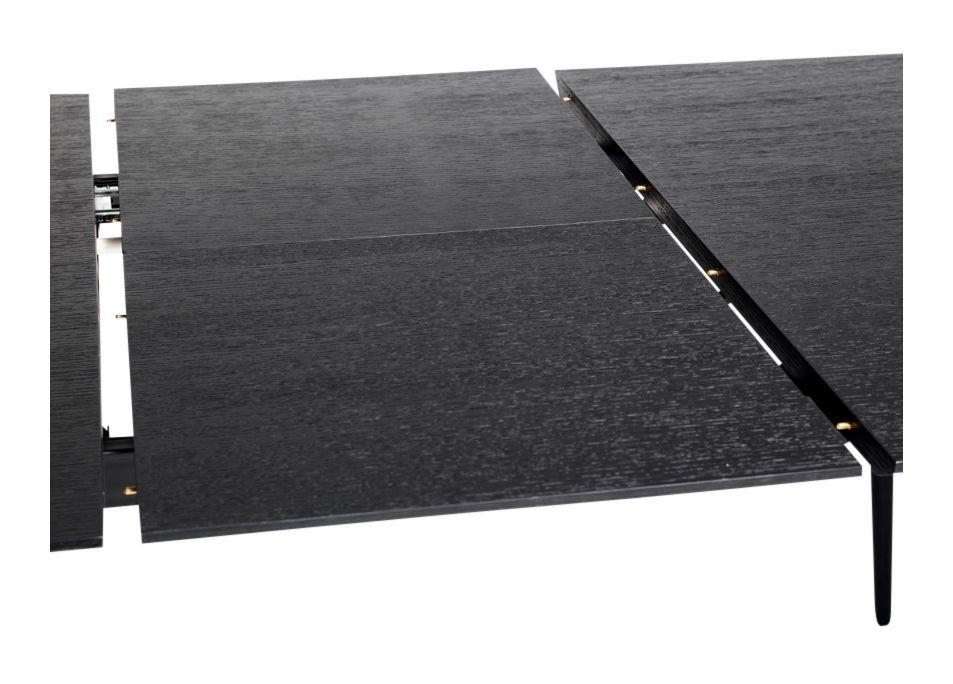 Njordec Dawn spisebord m. udtræk - Sort, 180x105