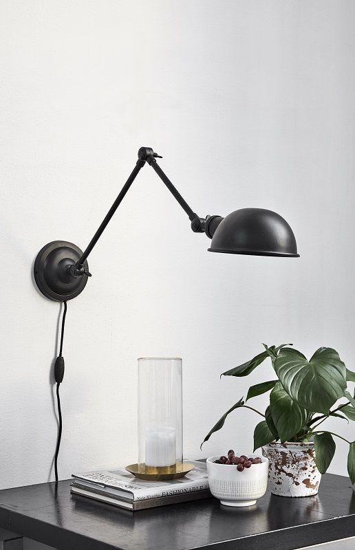 Nordal - Aura Væglampe - Sort - Væglampe i metal