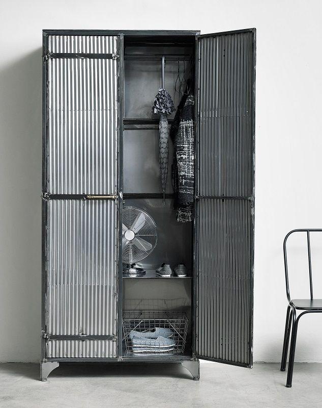Nordal Downtown Raw Garderobeskab - Grå - Garderobeskab i grå