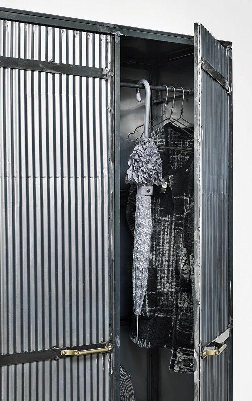 Nordal - Downtown Raw Garderobeskab - Grå - Garderobeskab i grå