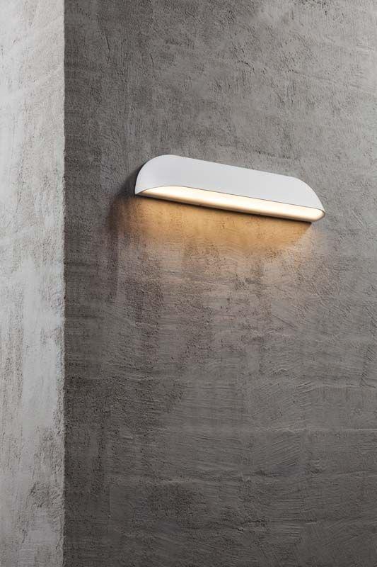 Nordlux DFTP Front Væglampe - Hvid - Lang hvid væglampe i metal