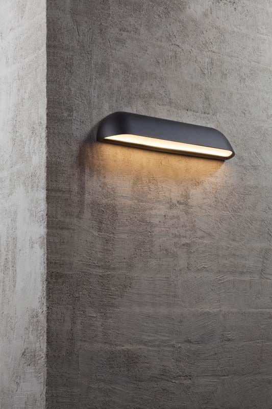 Nordlux DFTP Front Væglampe - Sort - Lang sort væglampe i metal
