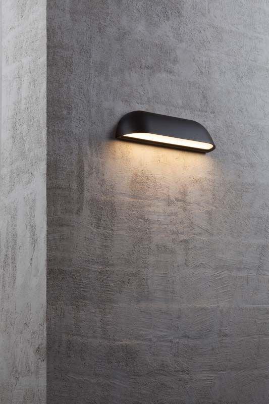Nordlux DFTP Front Væglampe - Sort - Sort væglampe i metal