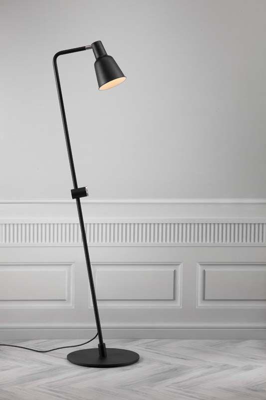 Nordlux DFTP Patton Gulvlampe - Sort - Sort gulvlampe i metal