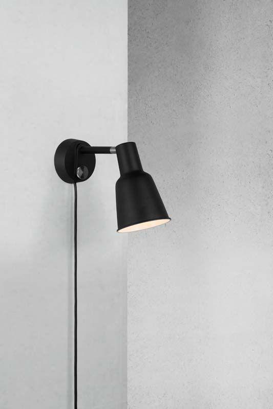 DFTP Patton Væglampe - Sort - Væglampe i metal