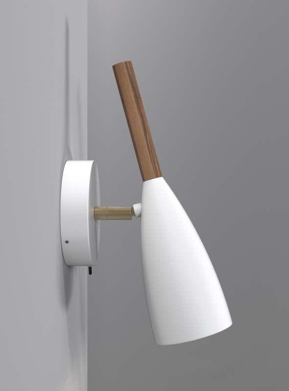 Nordlux DFTP Pure Væglampe - Hvid - Væglampe i hvid med træ detalje