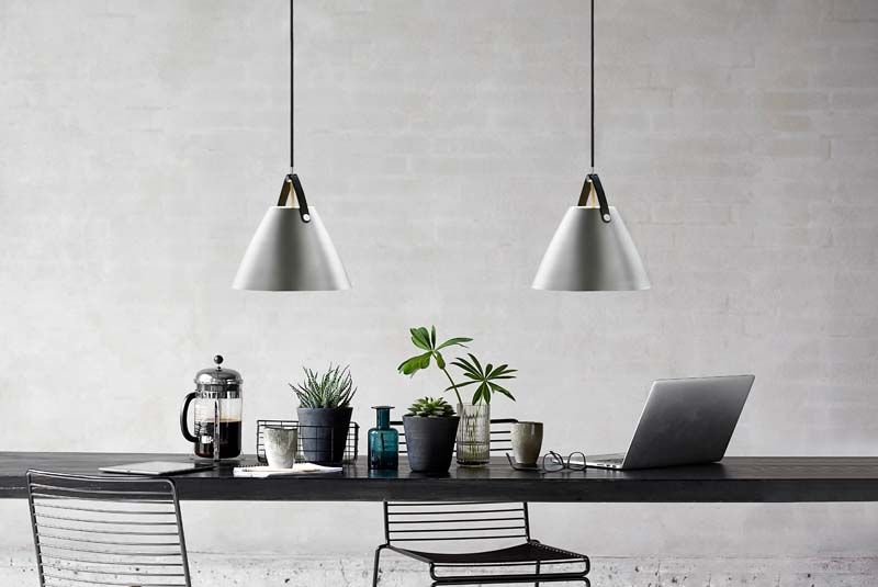 Nordlux DFTP Strap 36 Pendel - Grå - Loftslampe med brun strop