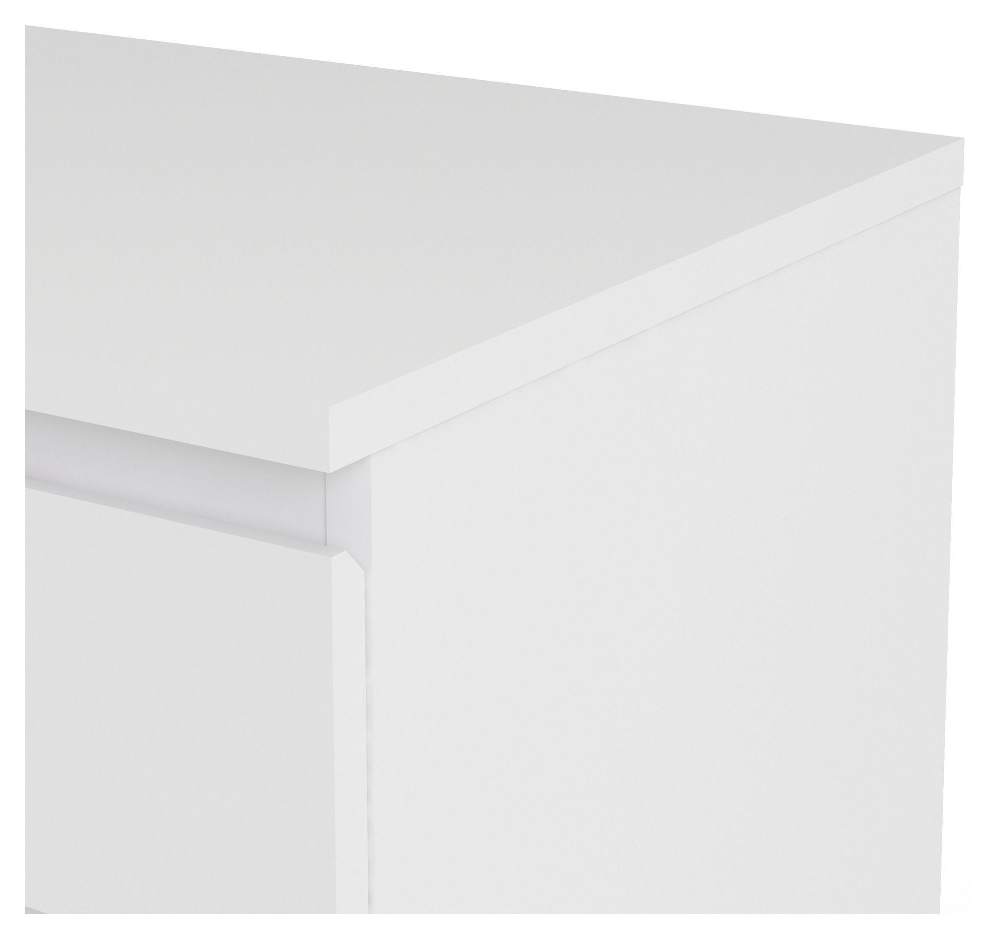 Nova Kommode - Hvid - Hvid kommode m. 5 skuffer