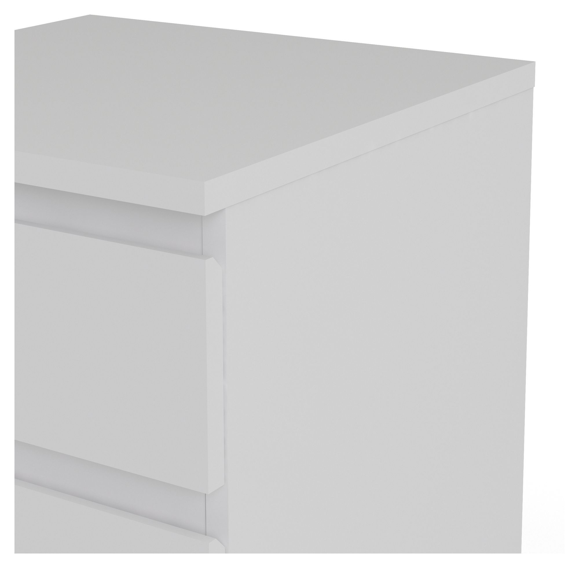 Nova Kommode - Hvid m/5 skuffer - Hvid kommode m. 5 skuffer