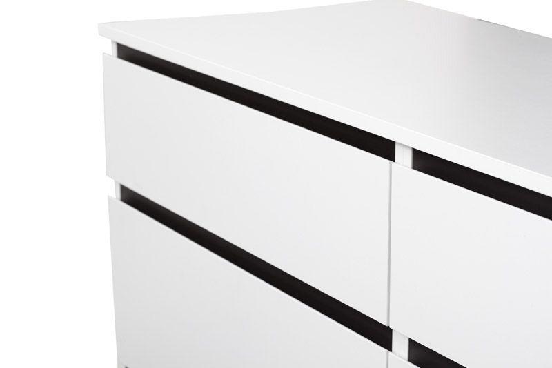 Nova Kommode - Hvid m/6 skuffer - Hvid kommode i træ