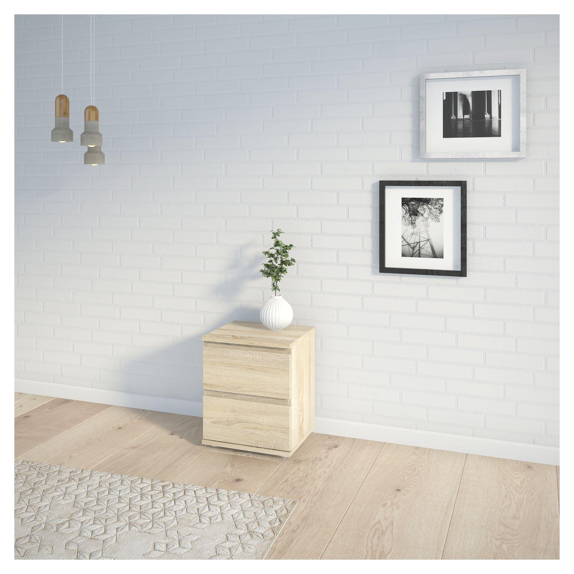 Nova Sengebord - Lystræ - Sengebord i lyst træ uden greb