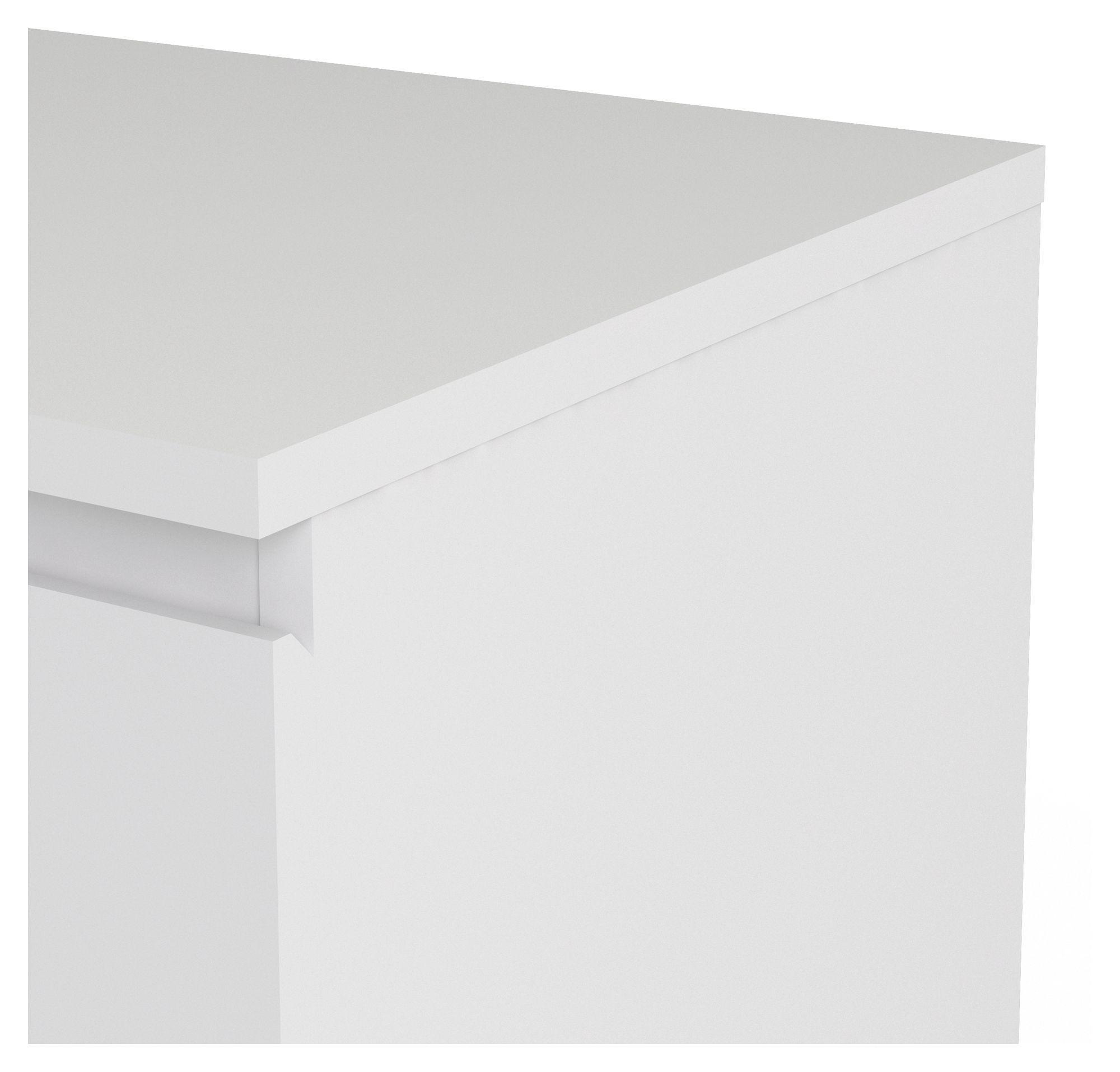 Nova Skænk - Hvid - Hvid skænk med 3 skuffer