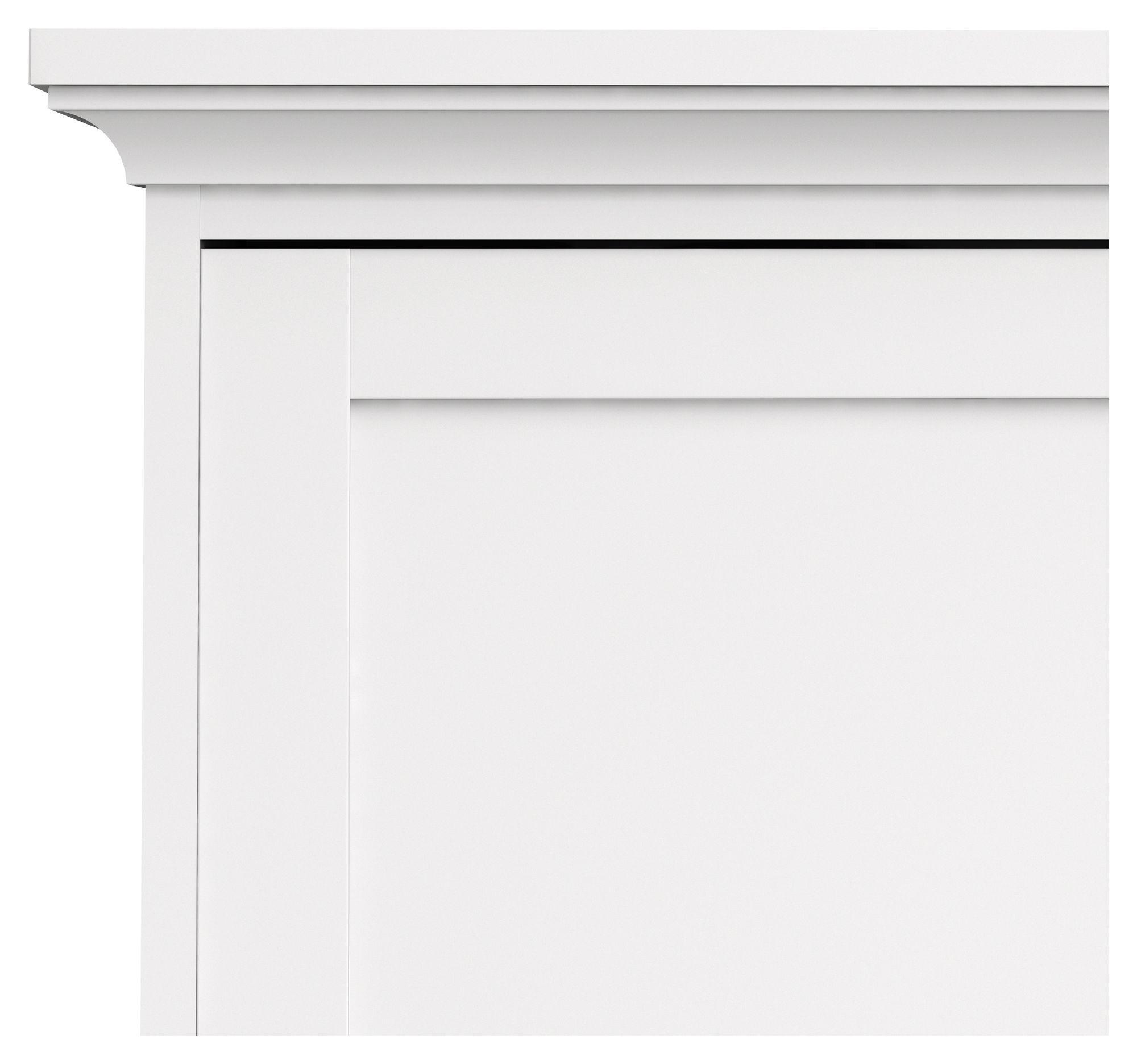 Paris Garderobeskab - Hvid B:138 - Garderobeskab med 3 låger i hvid