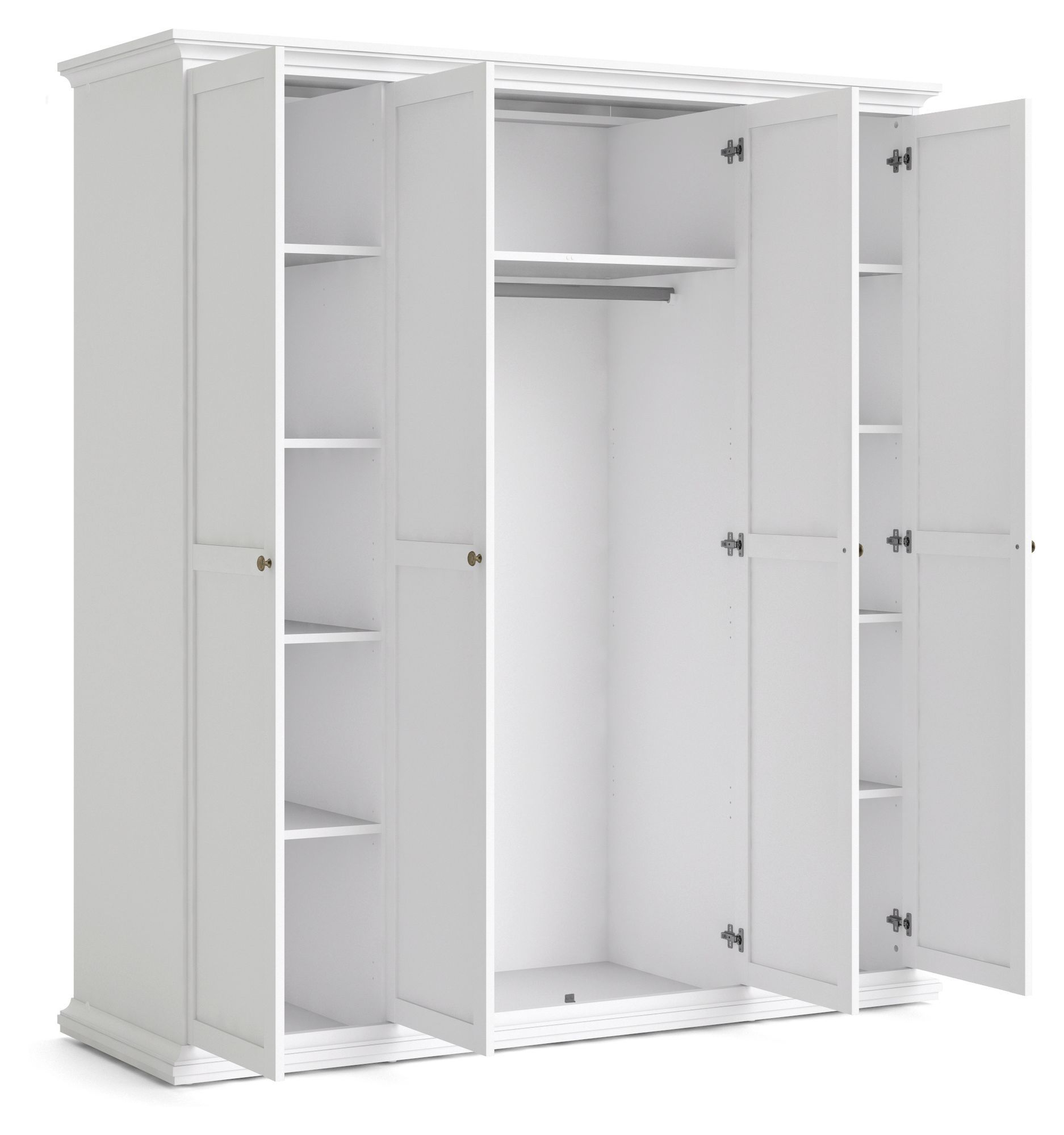 Paris Garderobeskab - Hvid B:181 - Garderobeskab med 4 låger i hvid