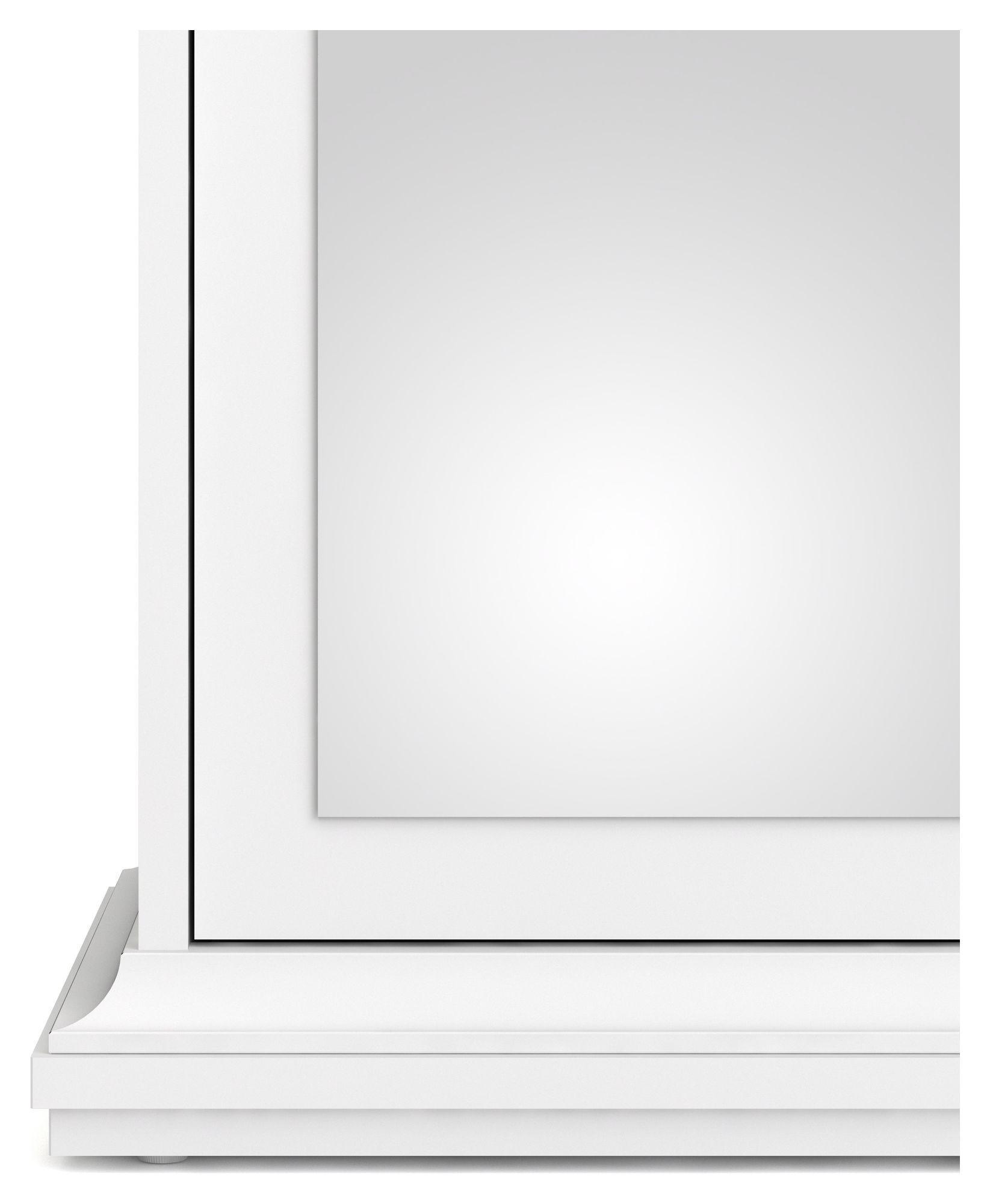 Paris Garderobeskab - Hvid B:62 H:200 - Hvidt garderobeskab med spejlfront