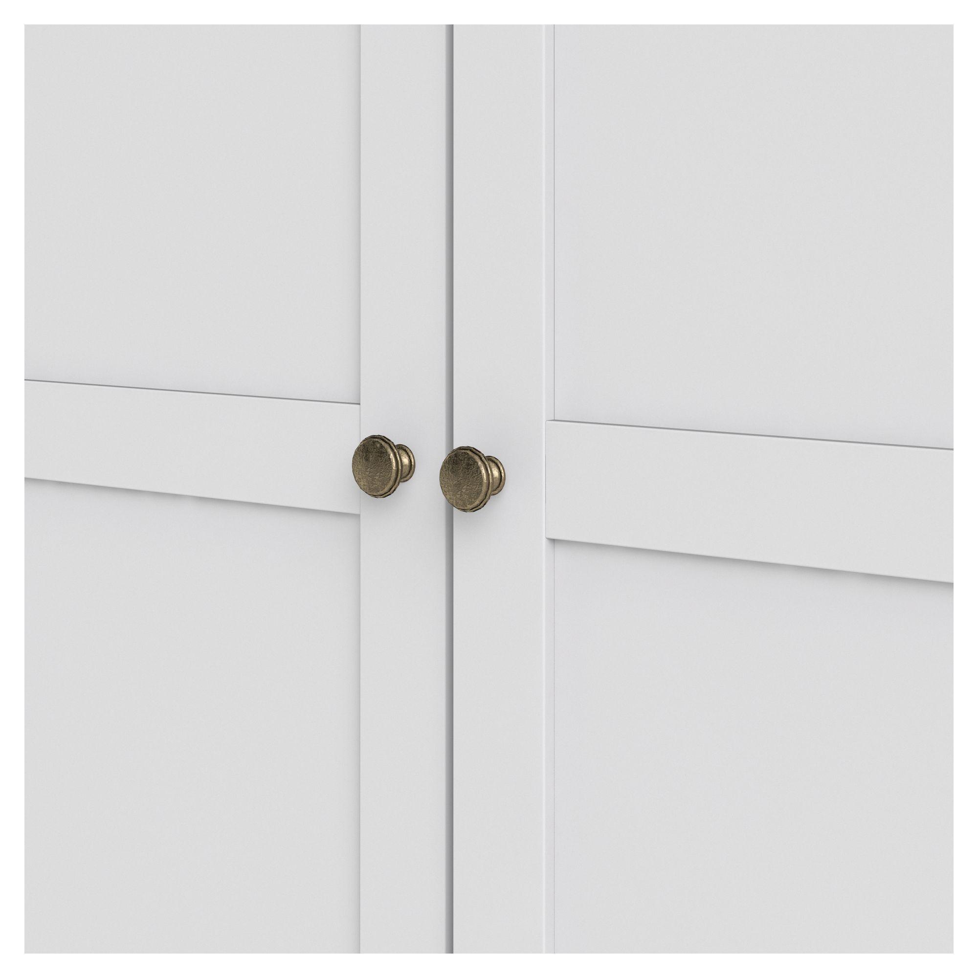 Paris Garderobeskab - Hvid B:96 H:200 - Hvidt garderobeskab med 2 låger