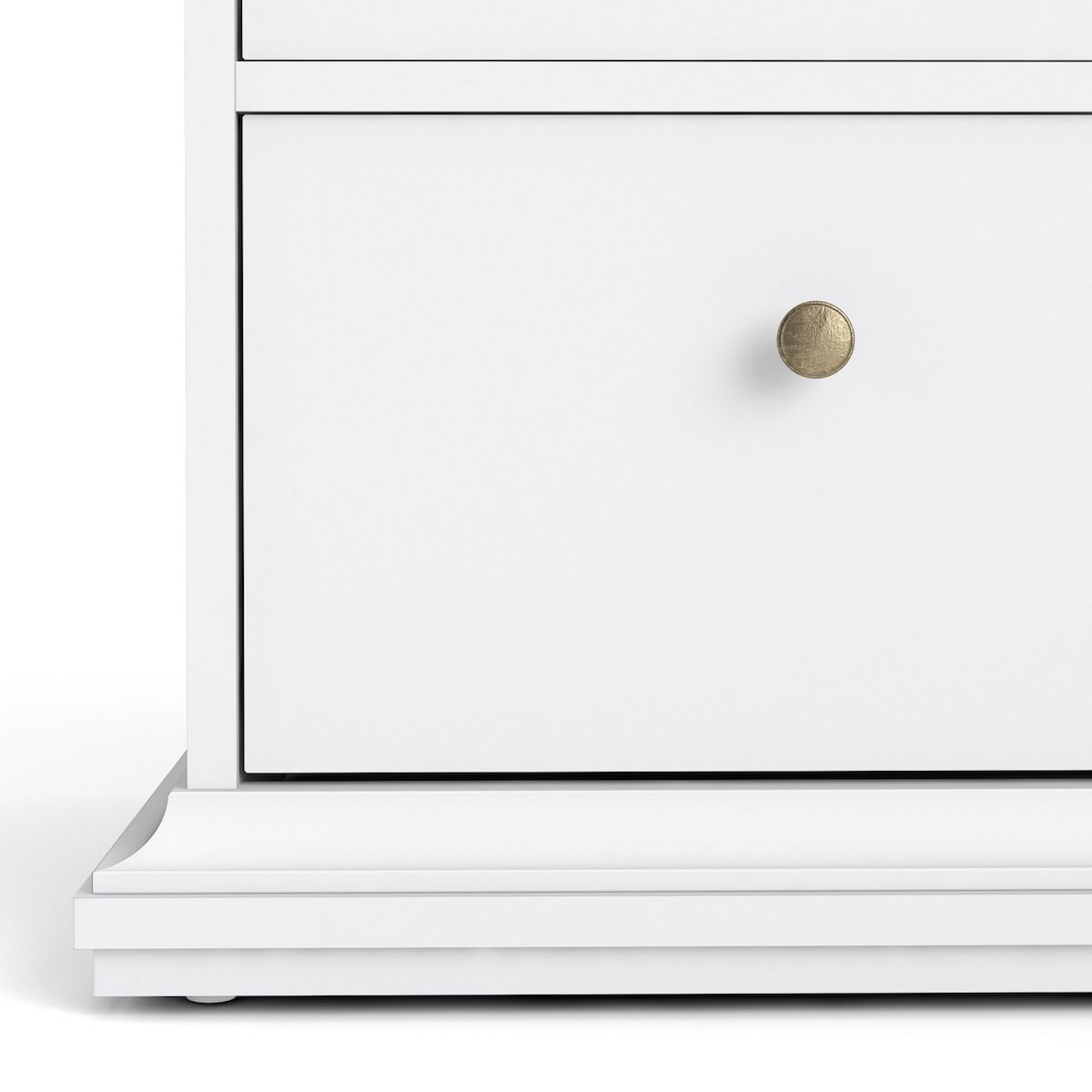 Paris Kommode - Hvid m/6 skuffer - Kommode med 6 skuffer i hvid