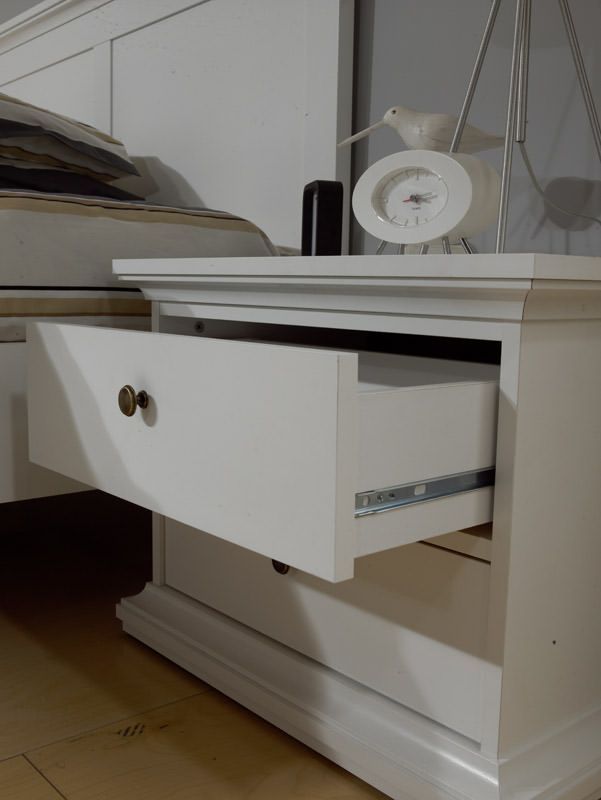 Paris Sengebord - Hvid H:49 - Sengebord i hvid