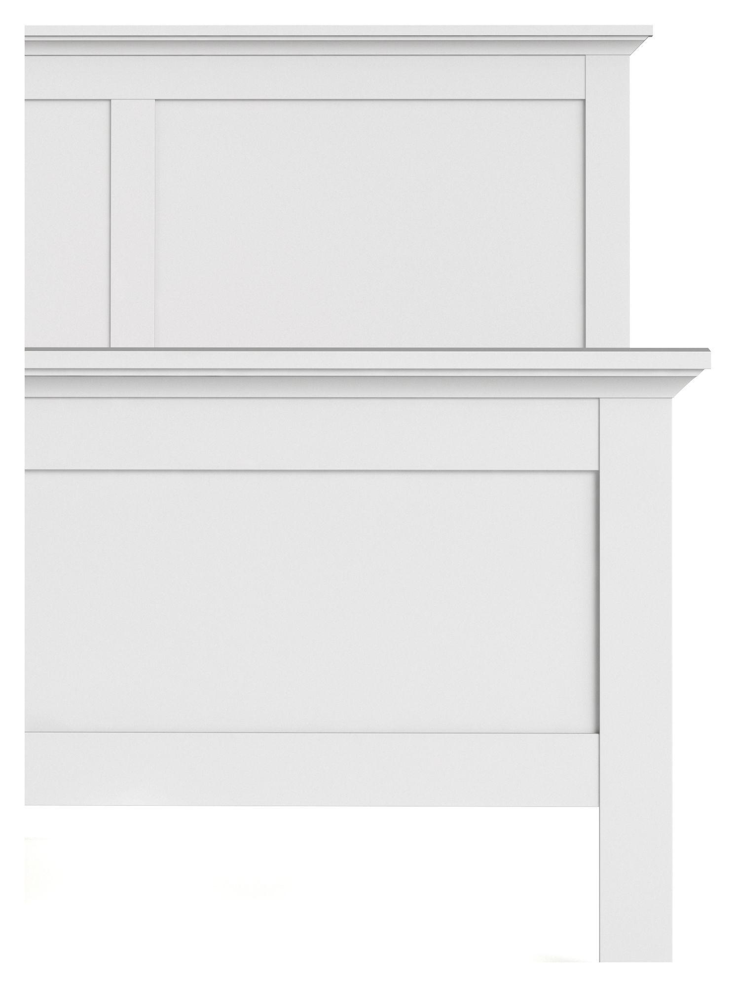 Paris Sengeramme - 160x200 - Hvid - 160 x 200 cm