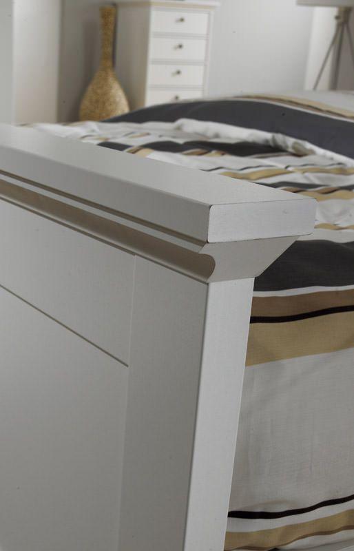 Paris Seng - Hvid seng - 200x140 cm