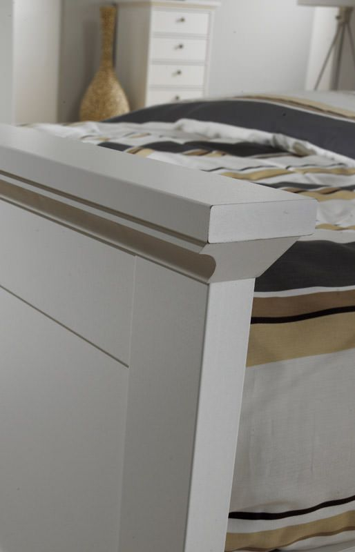 Paris Sengeramme - Hvid 140x200 - Hvid seng - 200x140 cm