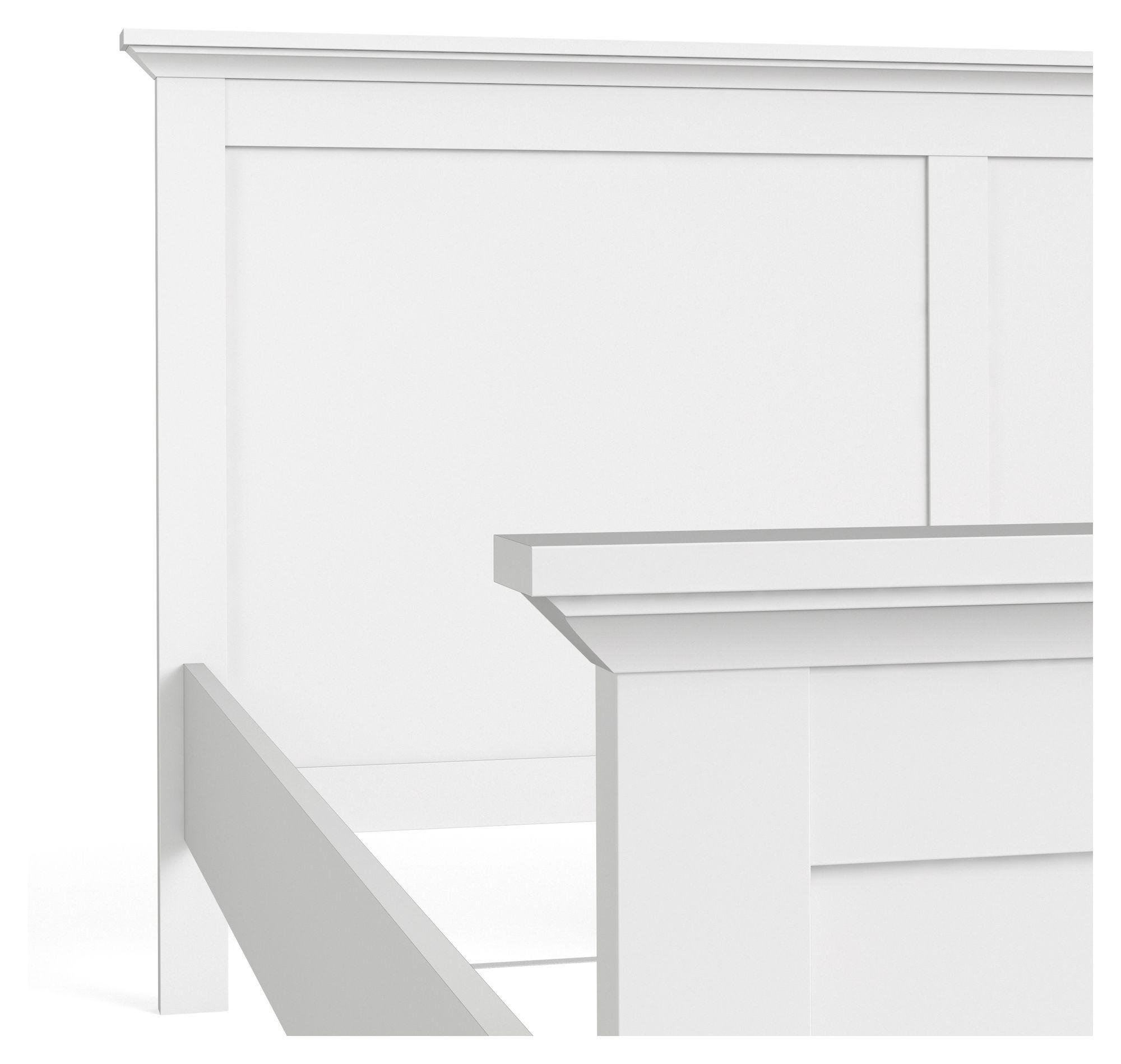 Paris Sengeramme - Hvid 180x200 - Enkel seng i hvid - 180x200 cm