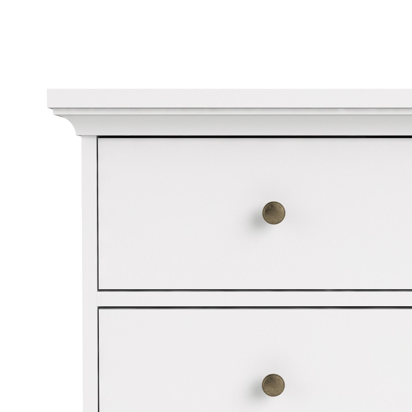 Paris Skrivebord - Hvid m/3 skuffer - Skrivebord i hvid