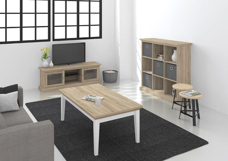 Paris Sofabord - Lystræ - Fint sofabord i egetræs-look