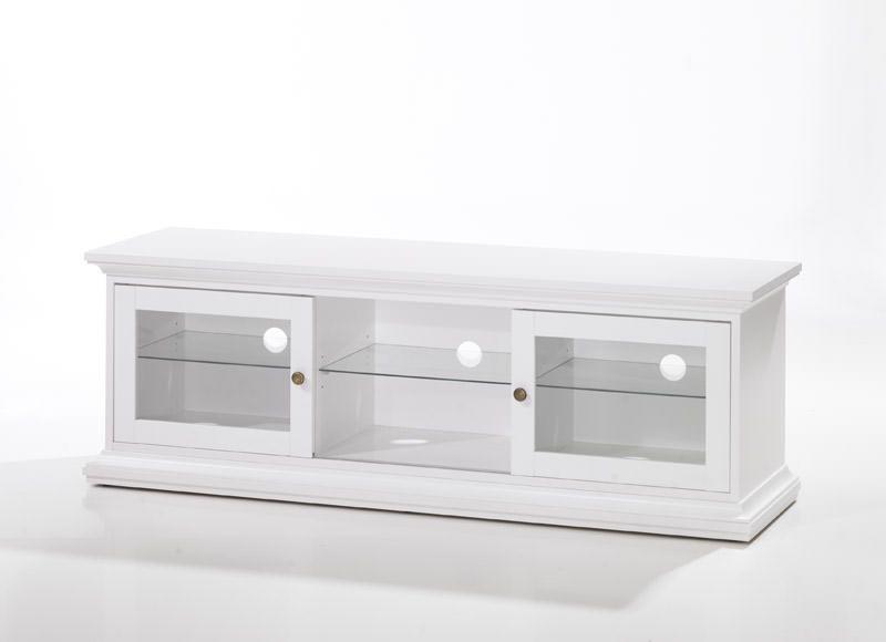 Varenr tv00354 type tv bord materiale komposittræ farve hvid leveres