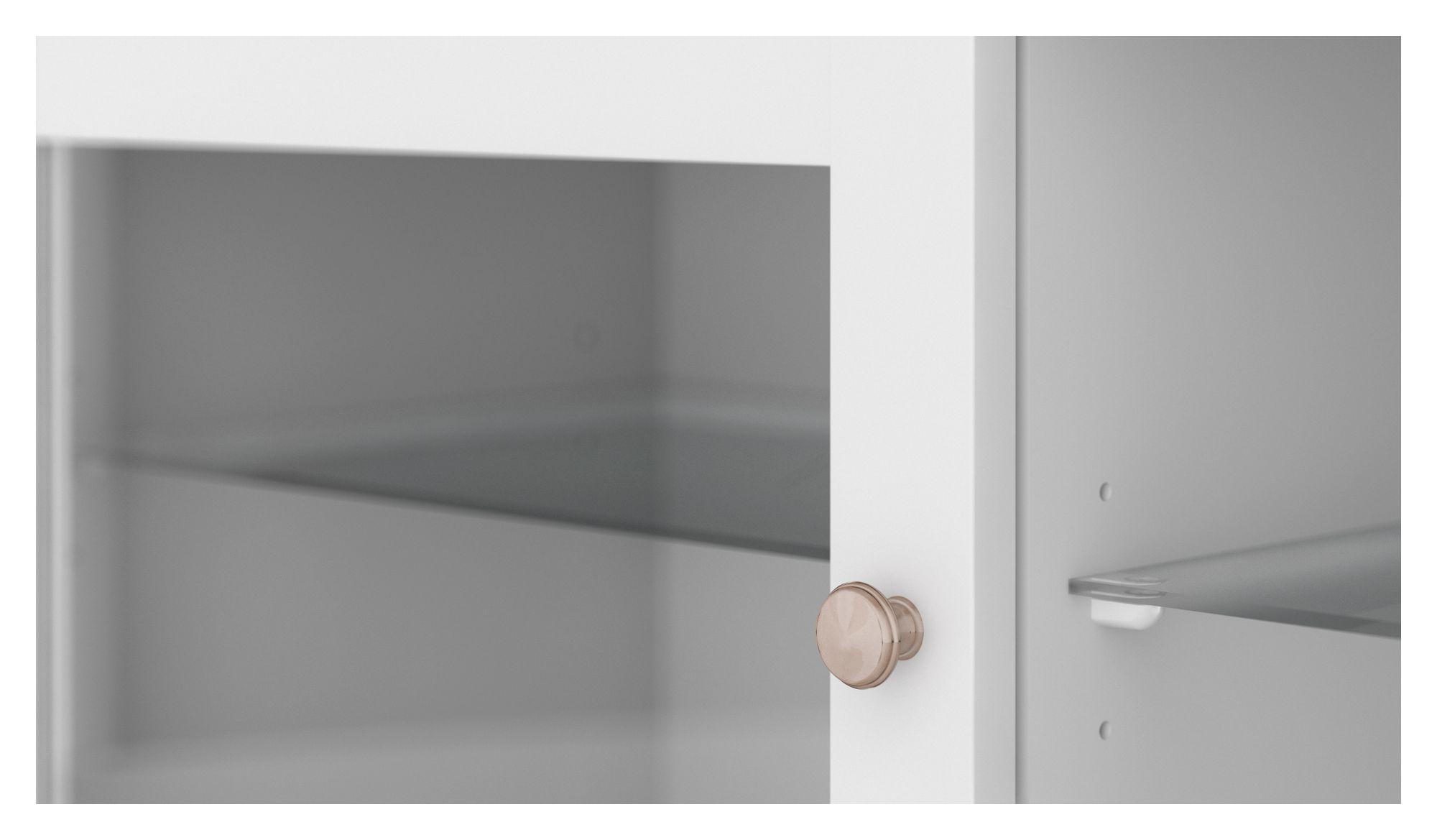 Paris Tvbord - Hvid m/glaslåger - Enkelt TV-møbel i hvid