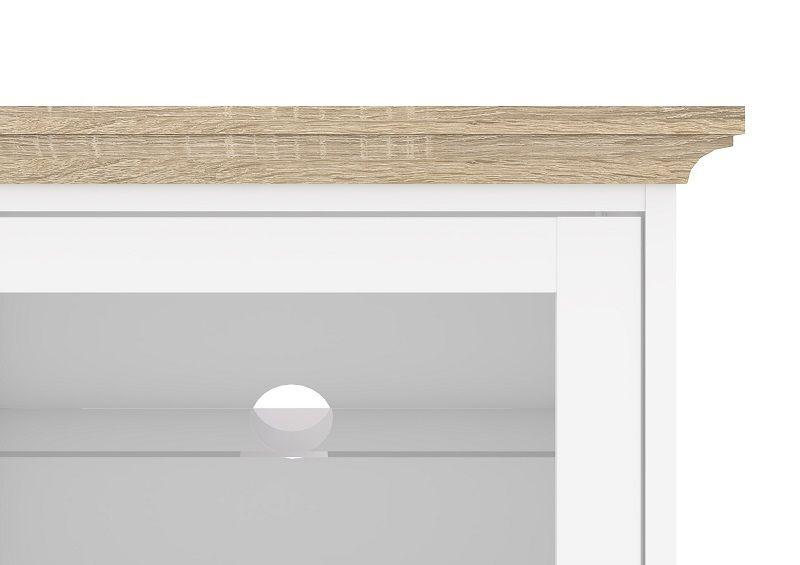 Paris TV-bord - Hvid - Hvidt TV-bord med skydelåger