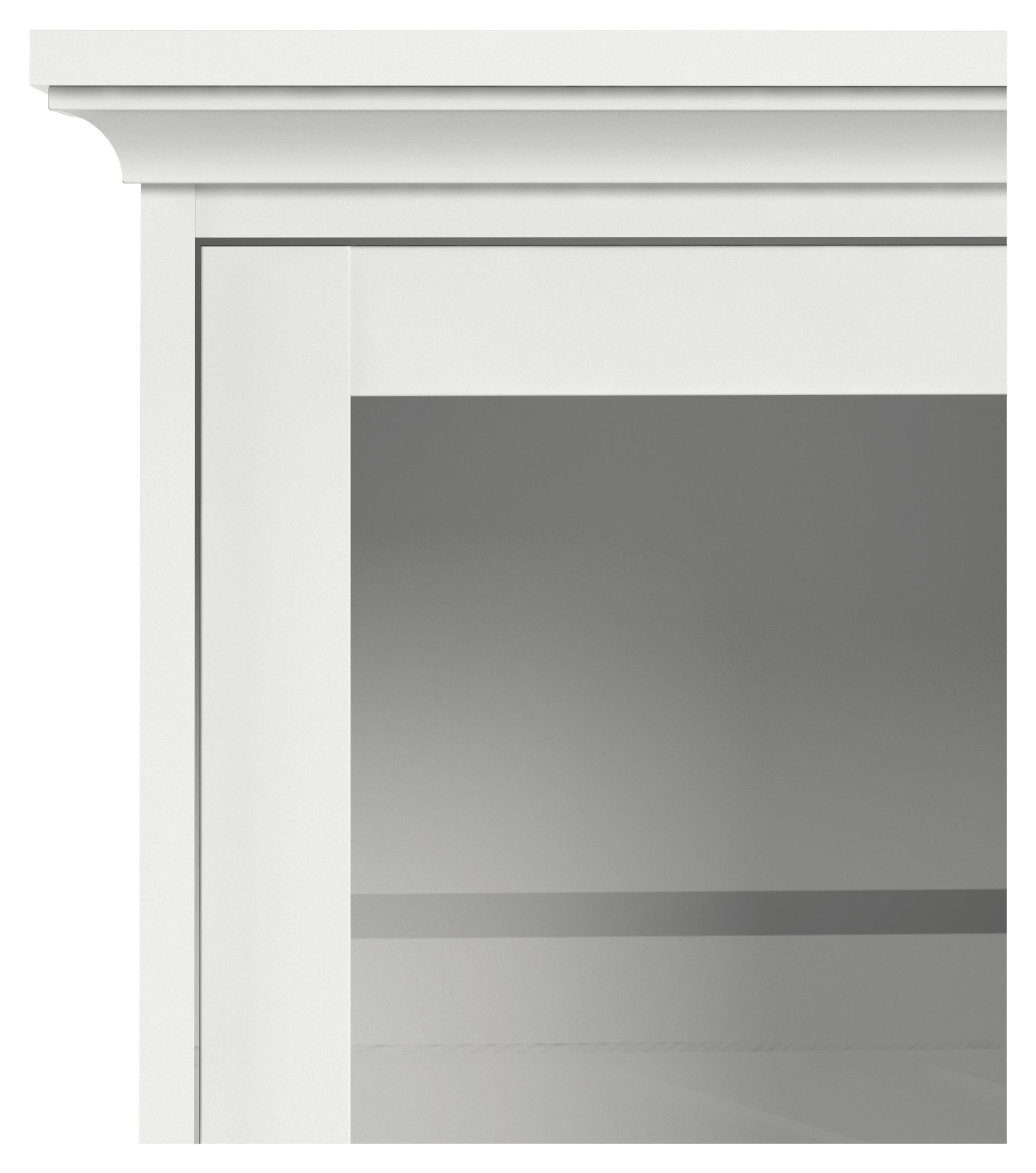 Paris Vægvitrine - Hvid B:98 - Hængemodul med glas låger i hvid