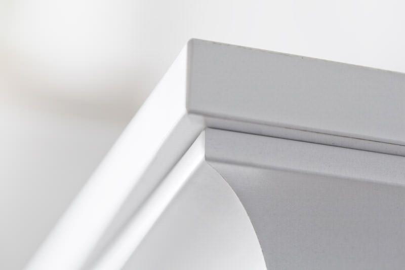 Paris Vitrineskab - Hvid m/2 glaslåger - Vitrine med låger og skuffer i hvid