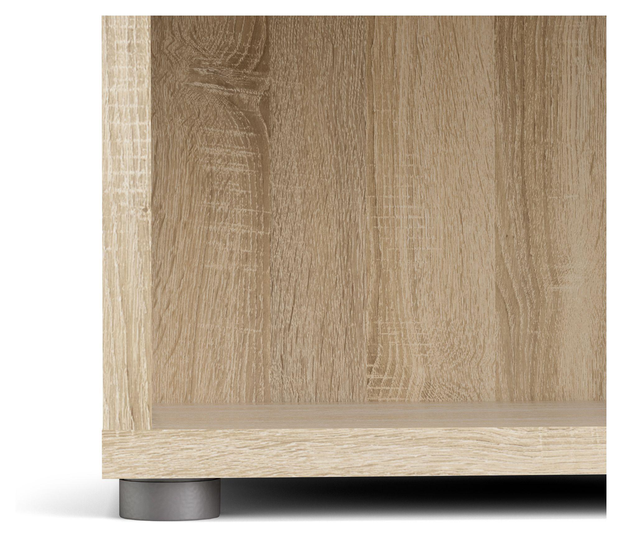 Prima Bogreol - Lys træ/Eg m/4 hylder - Reol i egetræs-look med 4 hylder