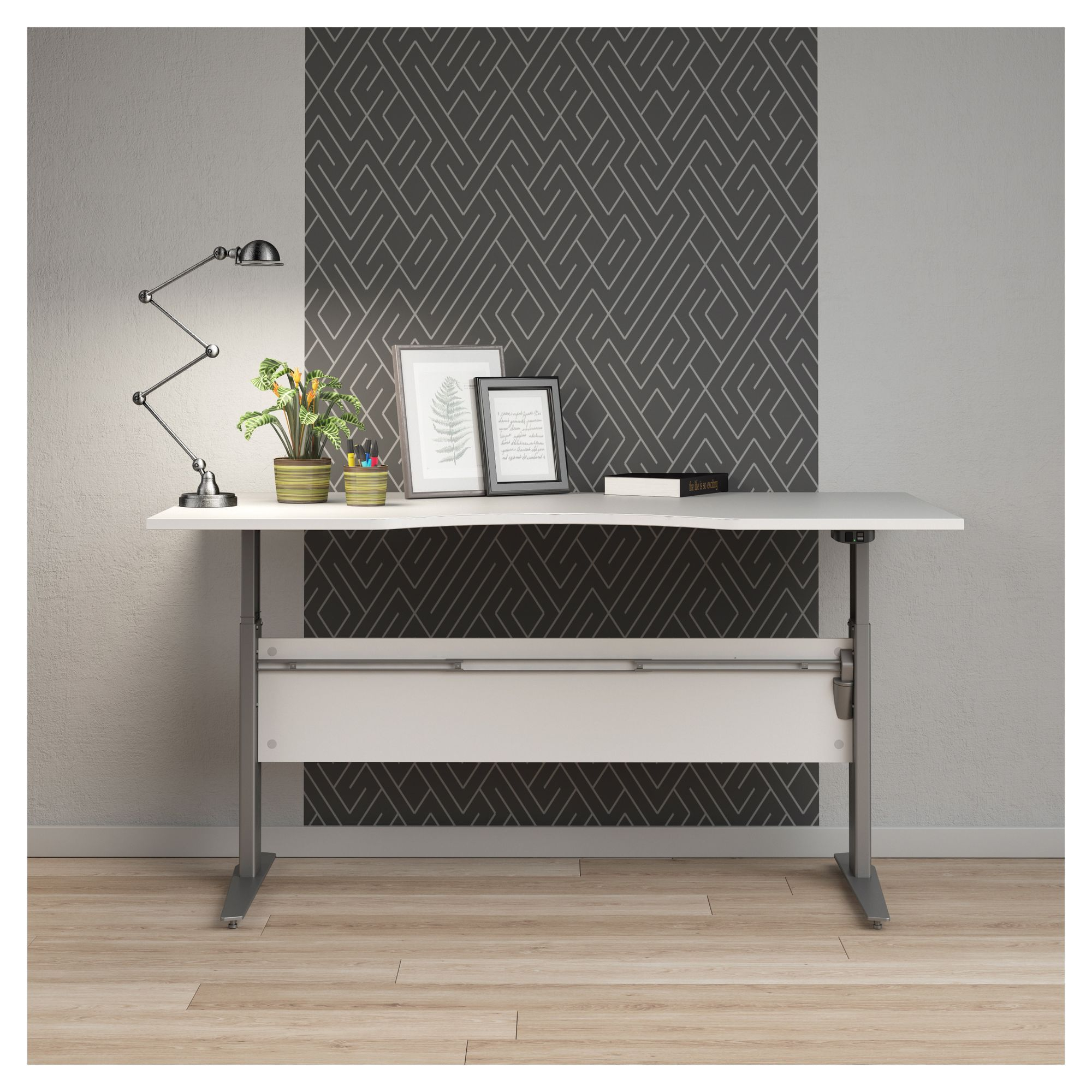 Prima Hæve/sænkebord - Hvid 180cm - Hæve/sænkebord i hvid - 180 cm