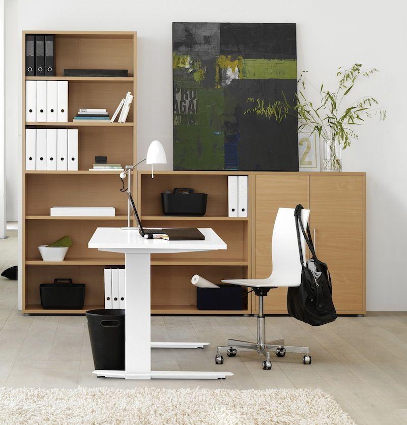 Prima Skrivebord - Hæve/sænke skrivebord i hvid