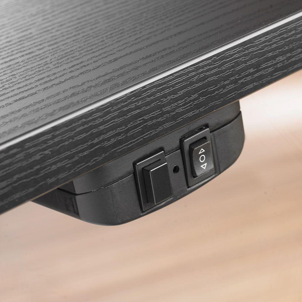 Prima Skrivebord - Hæve/sænkebord i sort ask - 150 cm