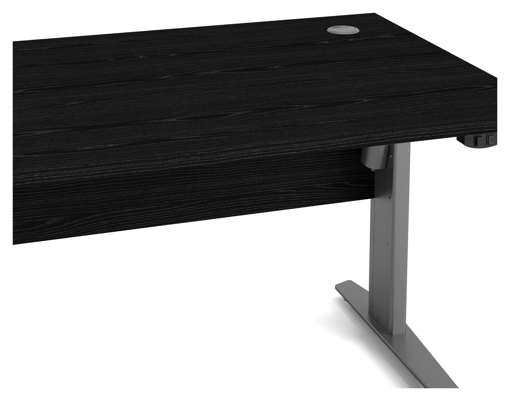 Prima Hæve/sænkebord - Sort - Hæve/sænkebord i sort ask - 150 cm