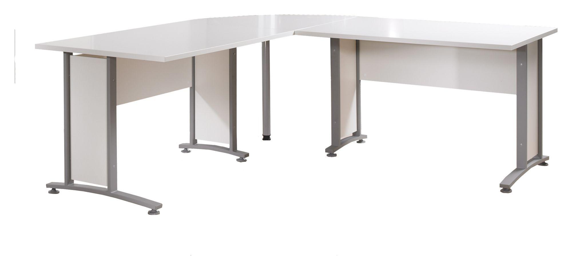 Prima Hjørneskrivebord - Hvid - Hjørneskrivebord i hvid