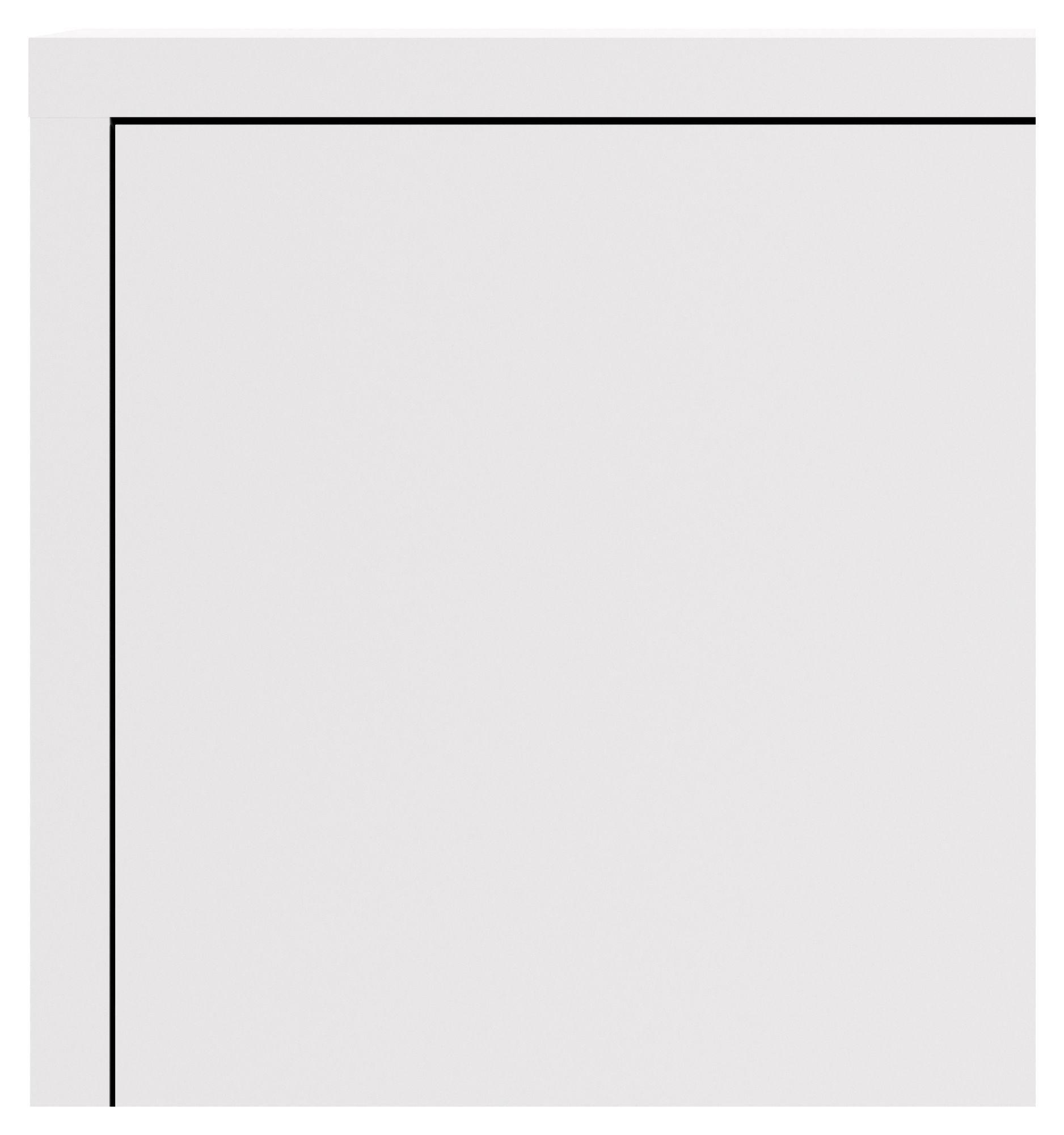 Prima Kontorskab - Hvid - Skab i hvid med to indvendige hylder
