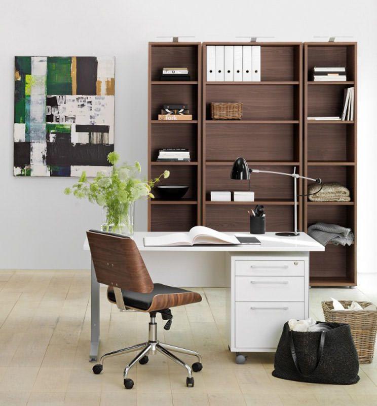 Prima Skrivebord - Skrivebord i hvid med et skuffemodul