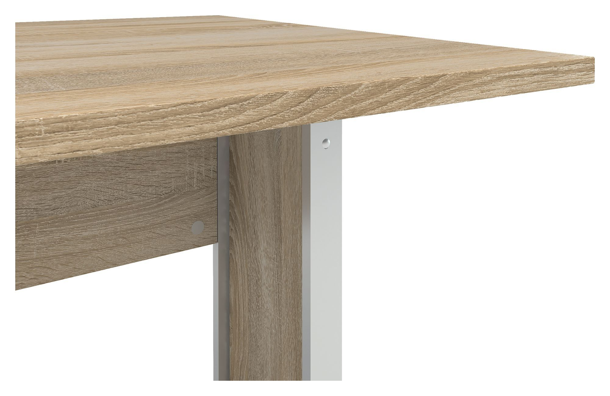 Prima Skrivebord - Lys træ 120cm m/metalben - Skrivebord med egetræs-look