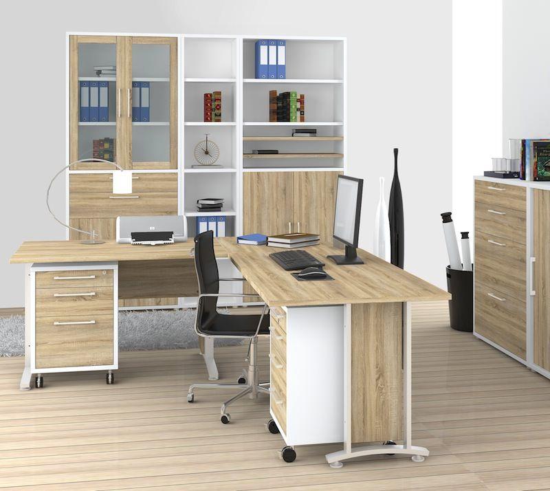 Prima Skrivebord - Klassisk skrivebord i egetræslook