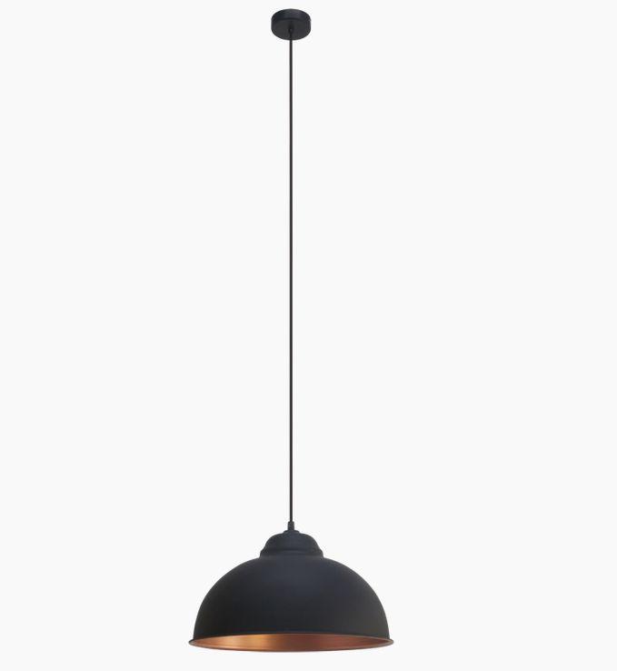 PUFF Pendel  - Sort - Sort pendel med kobberbelagt inderside